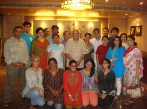 Happy to gather at the Royal Orchid Central Hotel, Vadodara