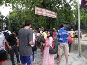 The groups are reunited at Gandhi ashram