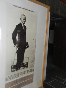 A famous political cartoon of Mahatma Gandhi