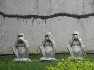 The famous 3 monkeys