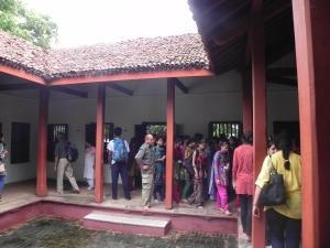 Visiting Gandhiji's living quarters