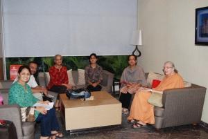 Pr. Shudhatmaprana joining us for the trip