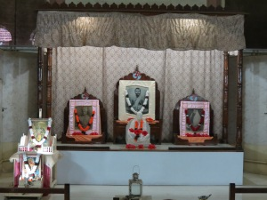 The altar in Durbar Hall