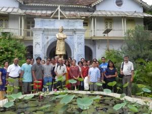In front of RKM Vivekananda Memorial, Vadodara