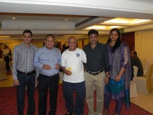 (From left to right)  Rasheshbhai, Mukundbhai, Uncle, Nimishbhai and his wife Chandaniben