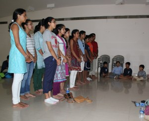 Reciting Shanti Mantras
