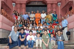 With Swami Sarvasthanandaji