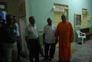 Swami Sarvasthanandaji is waiting to receive us