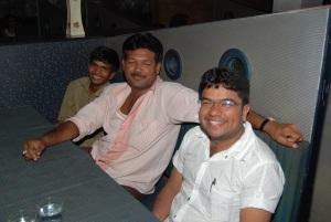 (From R to L)  Kalpitbhai, Rafik, and Ketan