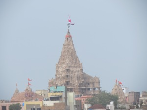 View of the Temple  from Terrace of the Hotel