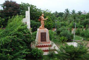 Swamiji's wandering pose