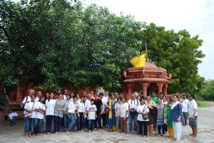 Shri Krishna's last foot steps