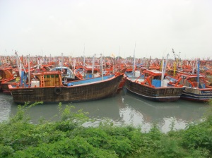 Colorful Boats for repair