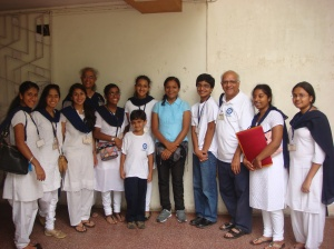Vidyapith students & teachers with Arunima Sinha