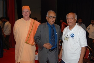 (From L to R):  Swami Atmarupananda, Dr. Bikas Sanyal, and Uncle