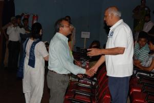 Joy to meet a friend, Mr. Dilip Desai who helped in arranging Mr. Pitroda's talk