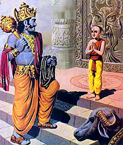 lord yama Yama was pleased with the unselfishness of nachiketa yama gave all the details of a particular sacrifice, the performance of which would take one to heaven as nachiketa was an intelligent and a sincere boy blessed with a spiritual knowledge, he could understand all that was taught.