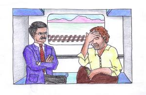 Wrong Train Illustration-Sneha