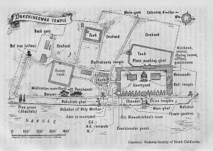 1. Dakshineswar Temple Grounds Map