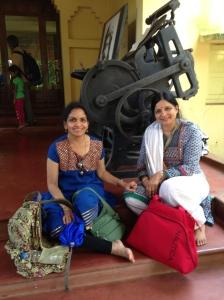 Around Rabindra Bhavana - old printing machine - Tagor's picture