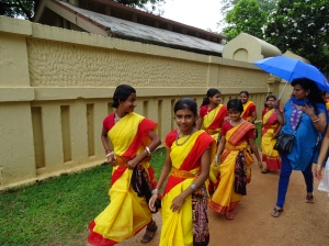 School Girls in Colorful Saris - 4