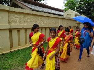 School Girls in Colorful Saris - 4