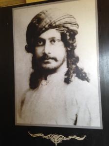 Tagore's photo near the press