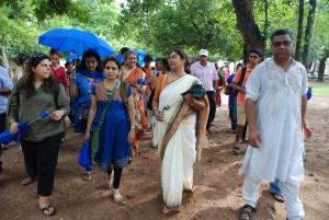Walikng in Amra Kunj ground with Head Mistress of Paath Bhavana