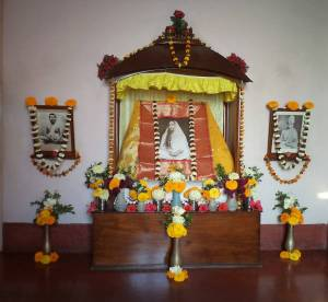 Holy Mother's shrine in Nilambar Babu's house