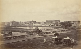 The Esplanade and Government House from Chowringhee - Calcutta (Kolkata) 1865